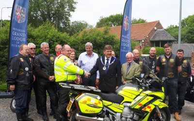 "New ""Blood Bike"" Handover – Saturday 9th June 2018"